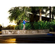 Neen Williams - Backside Tailslide - Santa Ana, CA - Photo Bart Jones Photographic Print