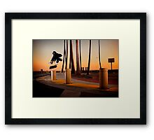 Pat Pasquale - Frontside Heelflip - Huntington Beach, CA - Photo Bart Jones Framed Print