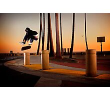 Pat Pasquale - Frontside Heelflip - Huntington Beach, CA - Photo Bart Jones Photographic Print