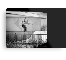 Patrick Melcher - Bluntslide to Fakie - Sacramento - Photo Bart Jones Metal Print