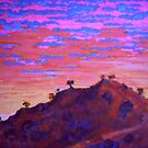 Sunset At Cowra by Richard  Tuvey
