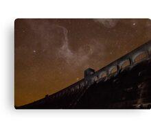 Milky Way over Clatteringshaws Dam Canvas Print