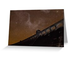 Milky Way over Clatteringshaws Dam Greeting Card