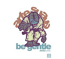 Be Gentle - Jiu Jitsu Gorilla Photographic Print