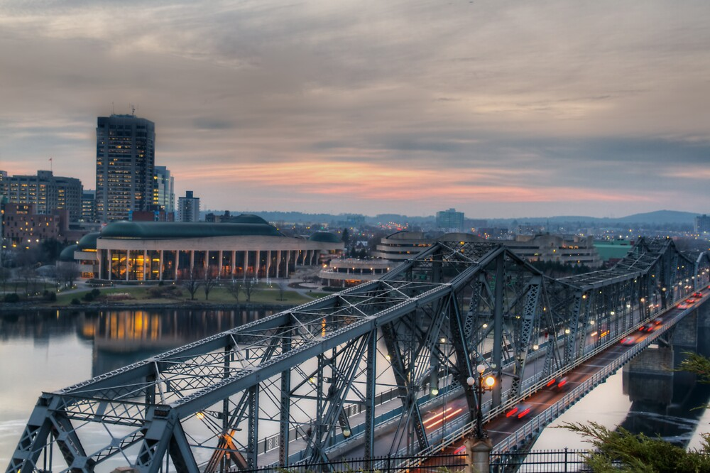 Alexandria Bridge - Ottawa, Canada by Josef Pittner