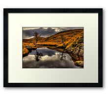 The Pool Of Autumn Framed Print