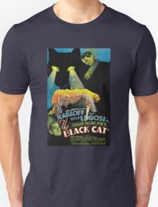 Black Cat - Poe Karloff and Lugosi T-Shirt