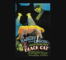 Black Cat - Poe Karloff and Lugosi Unisex T-Shirt
