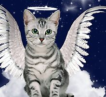Tabby Cat Angel - Card by Doreen Erhardt