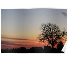 Farmstead Sunset Poster