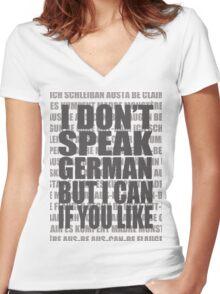 Scheiße 1 Women's Fitted V-Neck T-Shirt