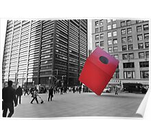 Red Cube Poster
