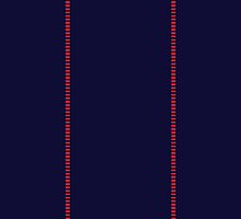 Corellian Blood-stripe - Red on Blue (Han Solo) by projectbebop