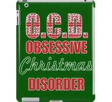 funny merry christmas OCD obsessive christmas disorder iPad Case/Skin