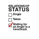 SINGLE TAKEN WAITING FOR AN ANGEL IN A TRENCHOAT iPhone case by thischarmingfan