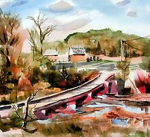 Low Water Bridge on Stout's Creek by KipDeVore