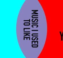 Elitist Music Venn Diagram Sticker