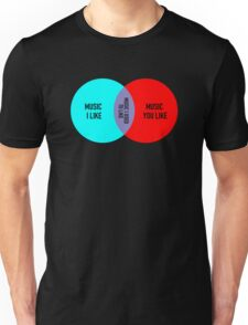 Elitist Music Venn Diagram Unisex T-Shirt