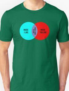 Elitist Music Venn Diagram T-Shirt
