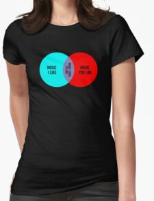Elitist Music Venn Diagram Womens Fitted T-Shirt