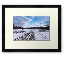 Winter in Canada 2015 Framed Print