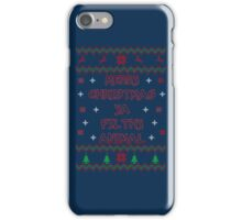 Merry Christmas ya Filthy Animal iPhone Case/Skin
