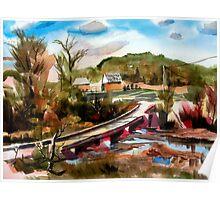 Low Water Bridge on Stout's Creek 2 Poster