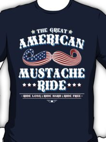 The Great American Mustache Ride T-Shirt