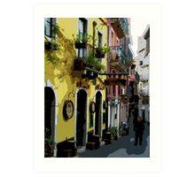 Sicily - Taomina street scene Art Print