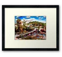 Low Water Bridge on Stout's Creek 3 Framed Print