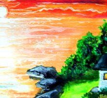 emerald lighthouse Sticker