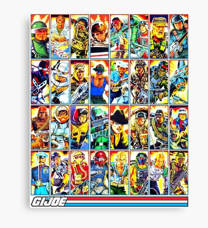 G.I. Joe in the 80s! (Version B) Canvas Print