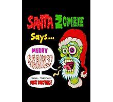 Santa Zombie Photographic Print