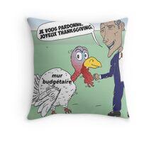 OBAMA pardonne un dinde de Thanksgiving Throw Pillow