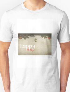 Happy Holidays (Christmas Baubles) Unisex T-Shirt