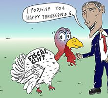 Obama Pardons Thanksgiving turkey by Binary-Options