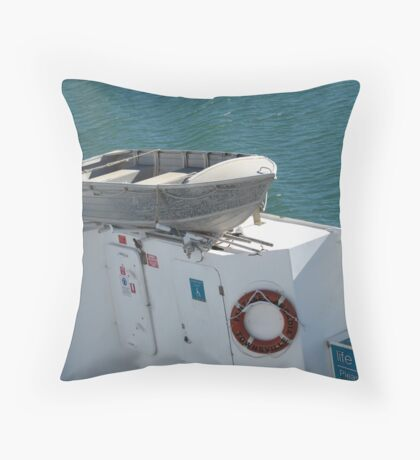 'IS THAT THE LIFE BOAT'?! Vehicular Ferry, Townsville. Que. Throw Pillow