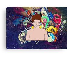 Psychedelic Lemon Man 3 Canvas Print