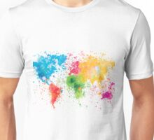 world map painting Unisex T-Shirt
