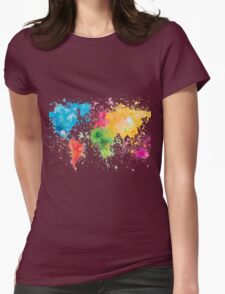 world map painting T-Shirt