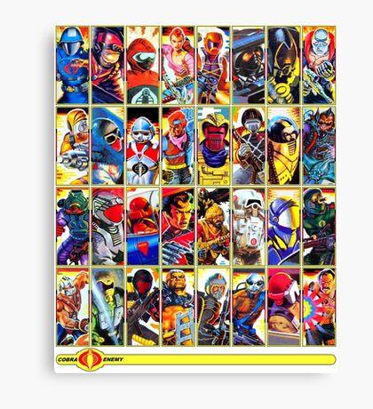 G.I. Joe in the 80s!  Cobra Edition! (Version B) Canvas Print