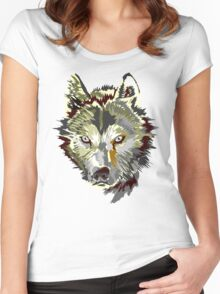 Wolf vector design Women's Fitted Scoop T-Shirt