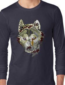 Wolf vector design Long Sleeve T-Shirt