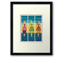 Beach Bloomers ~ just old fashioned girls Framed Print