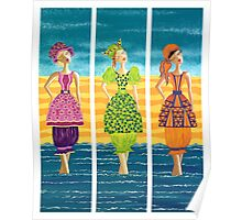 Beach Bloomers ~ just old fashioned girls Poster