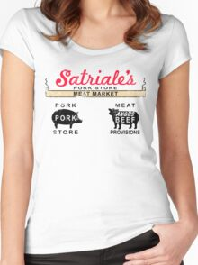 Satriale's Distressed Tee Women's Fitted Scoop T-Shirt