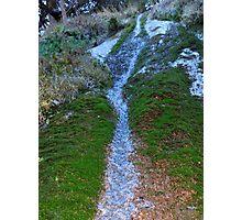 waterfall macro Photographic Print