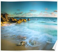 Sunlit Rocky Cove Poster
