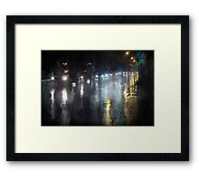 wet Framed Print