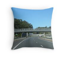 Well constructed pedestrian overway. Pacific Hgwy. North coast N.S.W. Throw Pillow